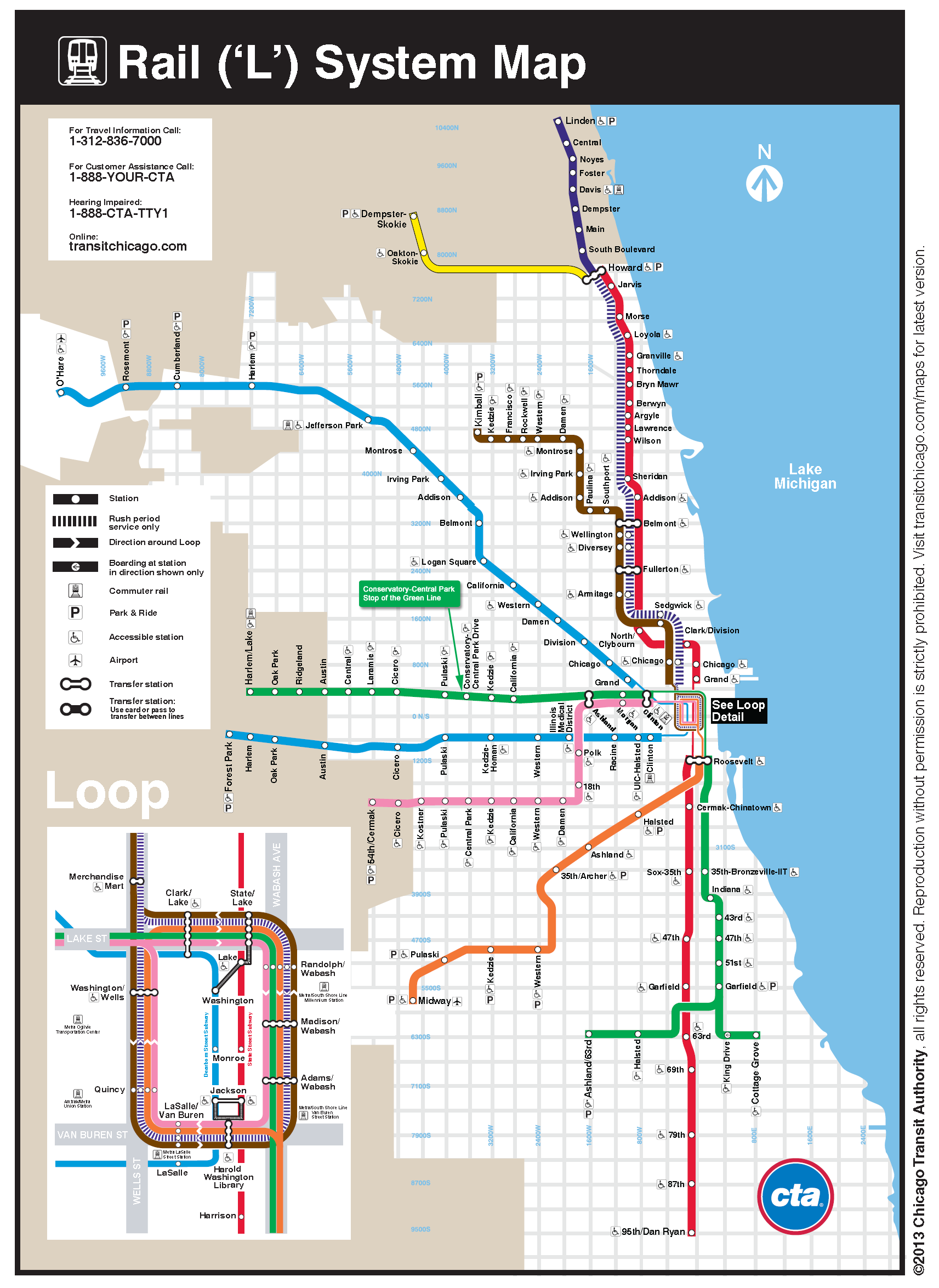 Directions – Tourist Map Of Downtown Chicago